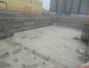 天兆大厦防水打桩已做好准备绑钢筋作业