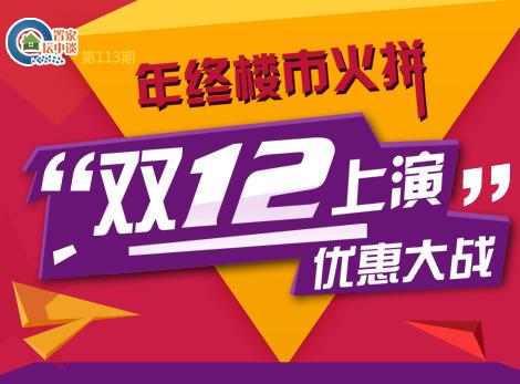 """置家坛中谈第113期:年终楼市火拼""""双十二"""" 上演优惠大战"""