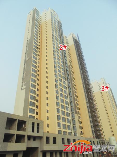 最新动态:盛世鑫苑1#楼窗户骨架安装完毕,二次结构基本完工,即将开始