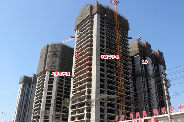 卓冠美景城年后开工在即 所有楼体均已封顶