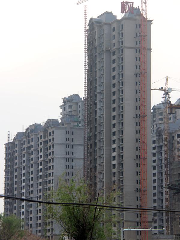 枫景华庭现已全面动工 正在进行内部二次结构作业