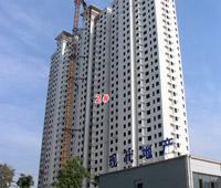 现代奥城施工进度一览 2#、4#楼外立面基本完成