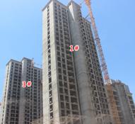 赵都新城S17精装住宅施工神速部分已封顶