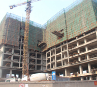 智汇城施工稳步推进 已出地面12层