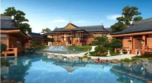 日本温泉别墅图片