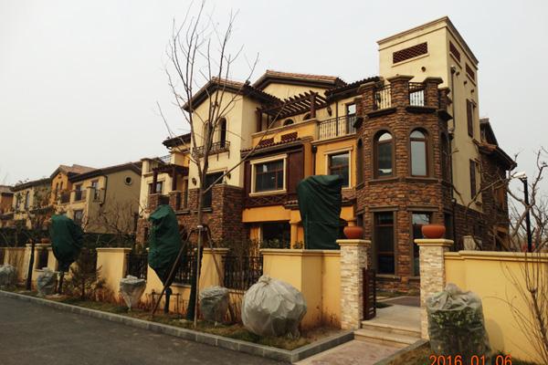 紫岸新年工程播报 项目北部别墅已经完成施工