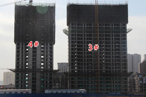赵都华府3#和4#楼即将封顶 首付三成钜惠全城