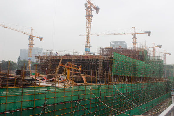 串城街最新施工进度快的惊人