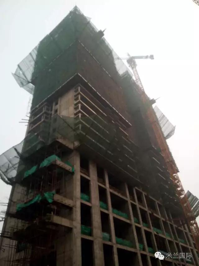 【工程进度】米兰国际施工现场热火朝天