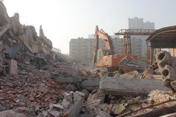 美的地产丛台区项目拆迁工作如火如荼