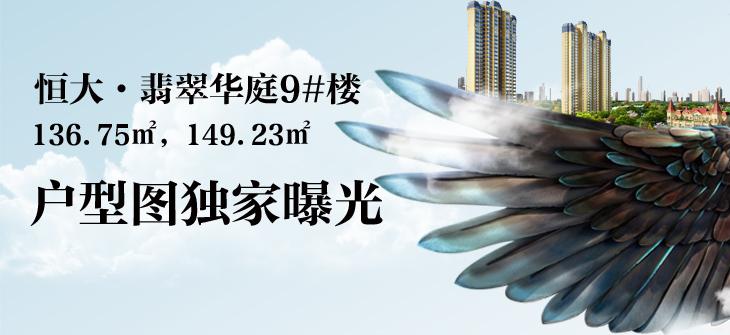 恒大·翡翠华庭9#楼即将加推136.75㎡,149.23㎡户型图独家曝光