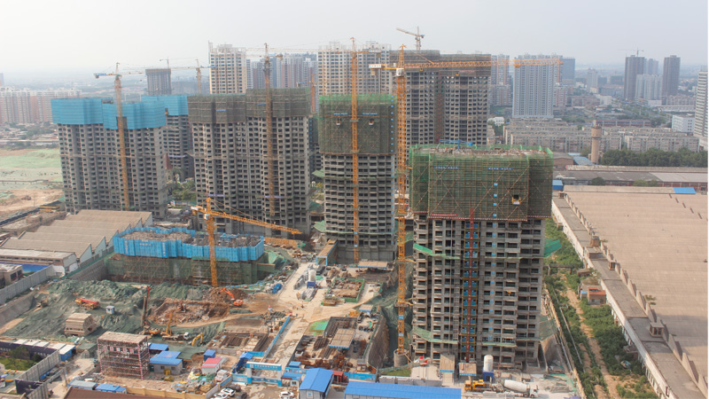 恒大·翡翠华庭7月14日工程进度实景拍摄