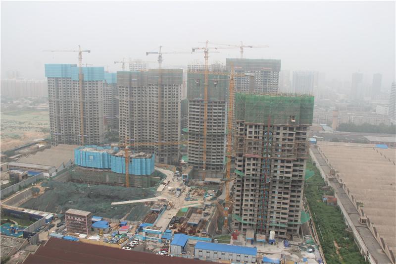 恒大·翡翠华庭8月18日工程实景图拍摄