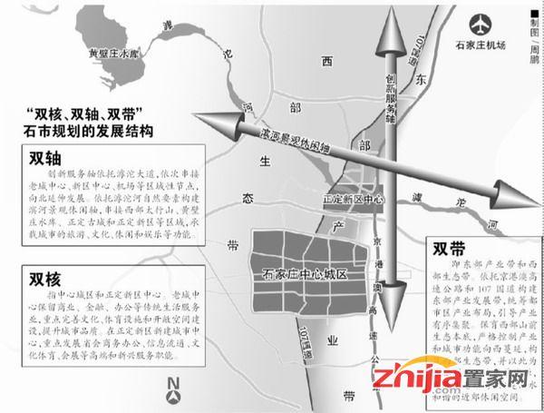 """石家庄市规划""""双核双轴双带"""" 地铁购物更方便"""