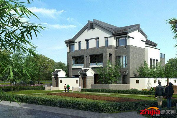 徽派新中式别墅,均价6100元/㎡, 联排均价5900元/平方米,双拼均价