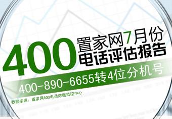 置家网7月份400电话评估报告