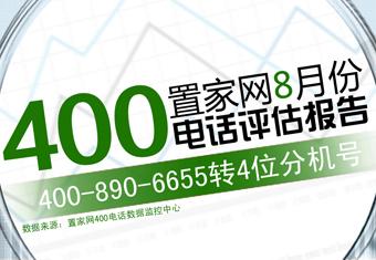 置家网8月份400电话评估报告