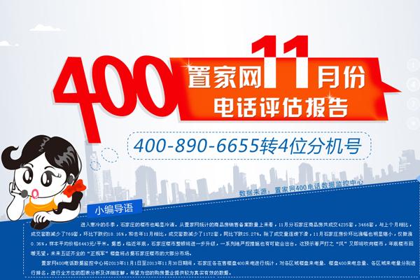 置家网11月份400电话评估报告