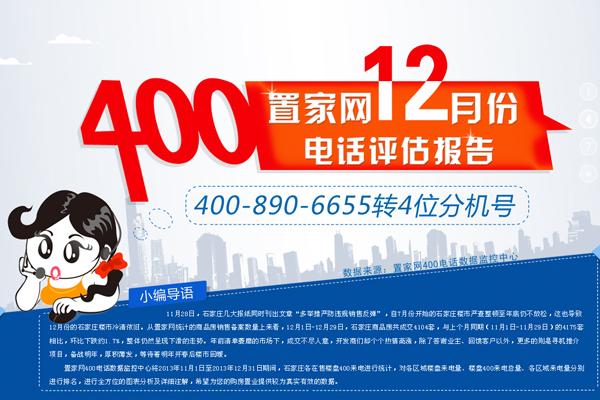 置家网12月份400电话评估报告