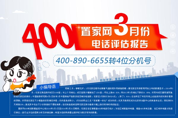 置家网3月份400电话评估报告