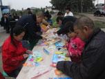 爱在蓝郡国际 幸福一家亲 立体拼图DIY欢乐举行