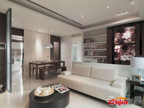 三居室内简约风格装修设计效果图 客厅