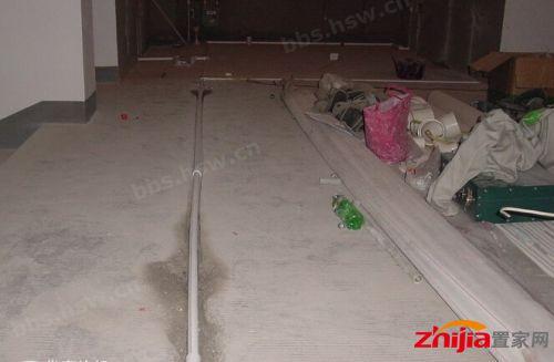 水路管道检查 →二次防水 →电线线路开槽 →电线电路布线  施工