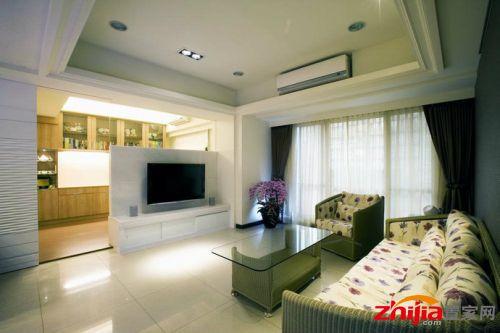 99平方米3房2厅现代简约客厅装修效果图