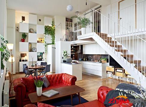 小户型的复式楼装修,也就是将普通住宅分为上楼与下楼两层来使用.