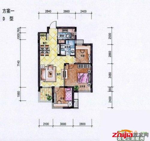 90平米小三房装修案例分享