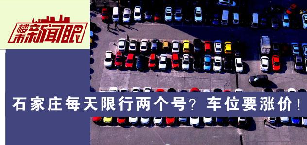 楼市新闻眼第七十三期:石家庄每天限行两个号?车位要涨价!
