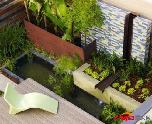 阳台鱼池设计效果图和阳台水池装修效果图