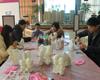 半岛国际石膏彩绘DIY蛋糕DIY活动举行
