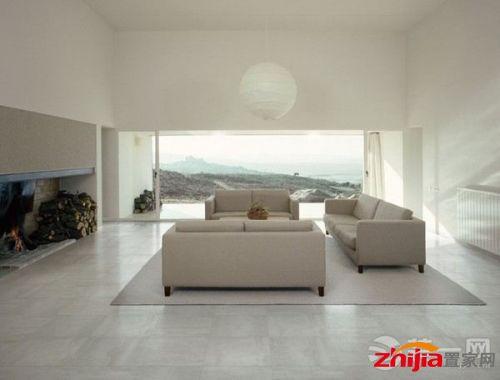 客厅地板砖装修效果图