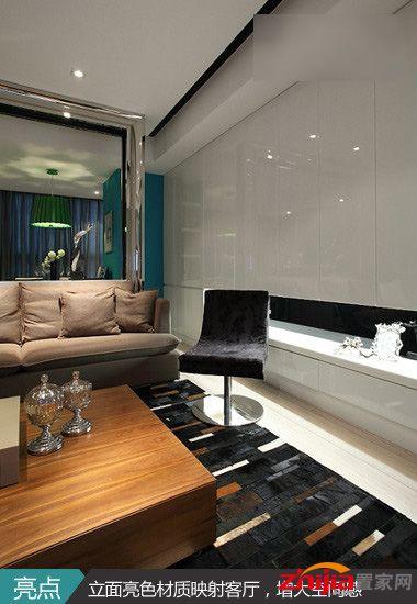 完美的装修设计:85平米两室两厅清水新房投胎换骨