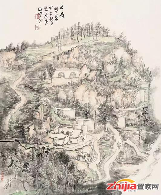 春节 国画画