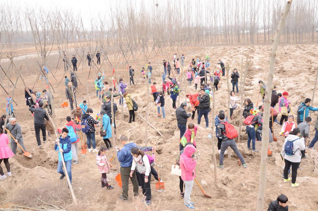2016年东胜集团平山大吾川植树节暨创建绿色城市动员大会圆满举行