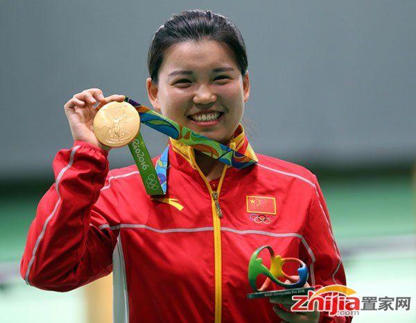 中国里约奥运首金!张梦雪后程发力气手枪封后