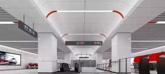 石家庄地铁1号线样板站 装饰装修9月完工