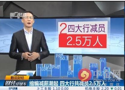 银行年终奖5.62元变相裁员 四大行裁员超2.5万人