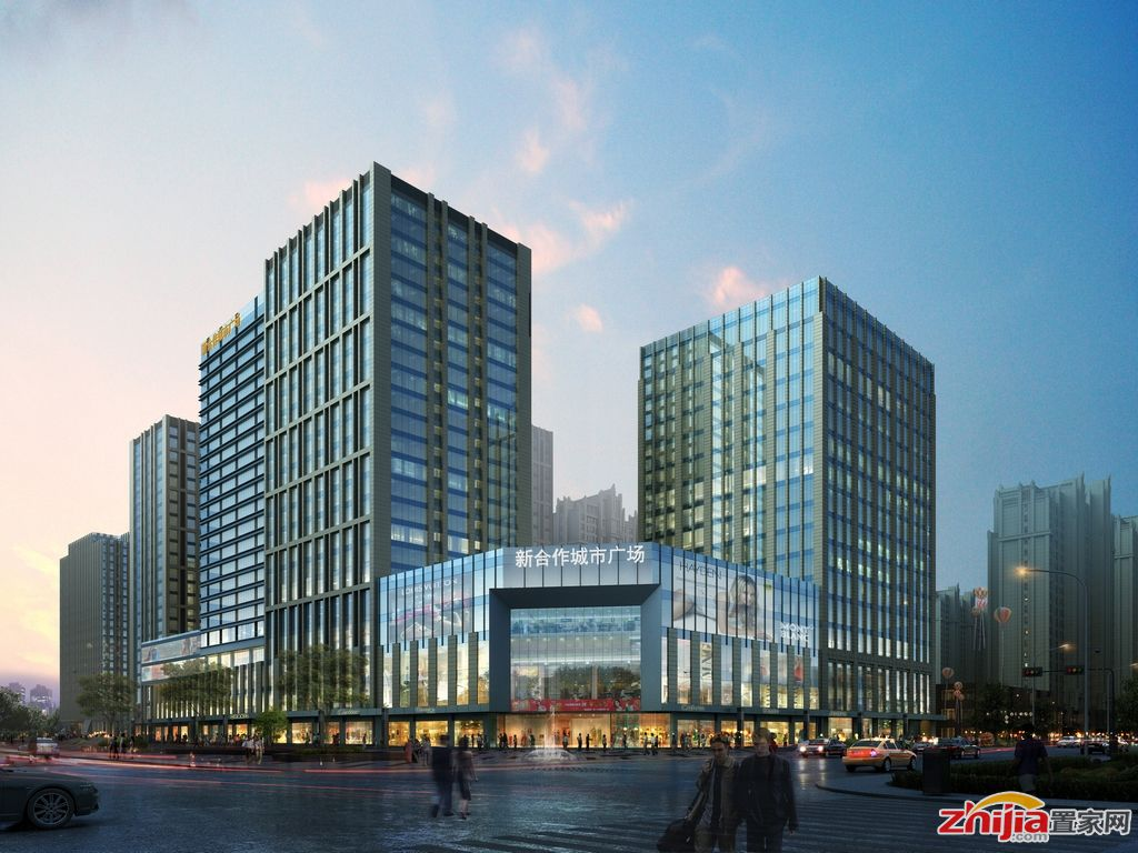 新合作城市广场新获建筑规划许可证