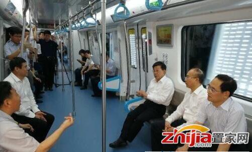 石家庄地铁6月底试运营 书记省长都来试乘了