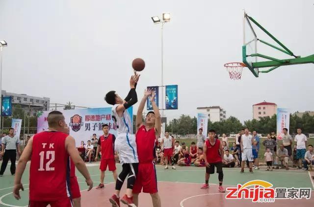 """""""厚德地产杯""""石家庄市鹿泉区第三届男子篮球联赛火热开赛"""