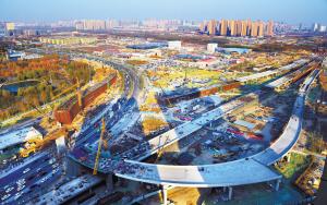 南二环东延施工完成总工程量的70%
