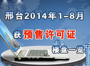 邢台2014年1-8月份或预售证楼盘一览
